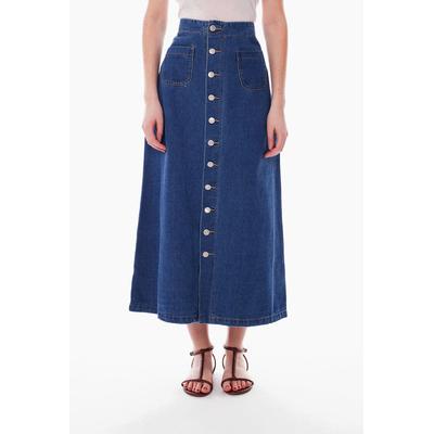 jupe longue jeans femme simply chic D321 40 au 50