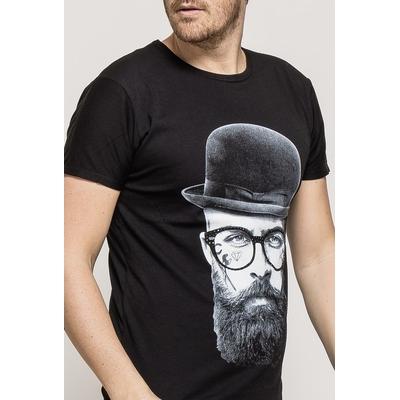 T-shirt en coton noir à manches courtes homme just boy 3021 M/L/XL/XXL