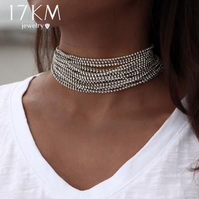 collier ras de cou multiples femme jewelry doré ou argenté NJCS59151 NJCS59125 (ali)
