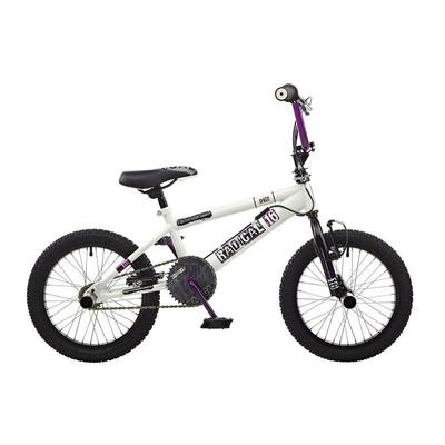 "vélo bmx rooster RADICAL 16"" blanc mauve RS111"