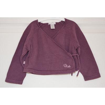 cardigan fille 6 mois obaibi violet