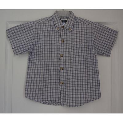 chemisette grise carreaux garçon 5 ans sans marque