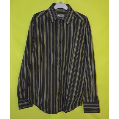 chemise noir verte rayée coupe droite homme taille 3 39 40 jules