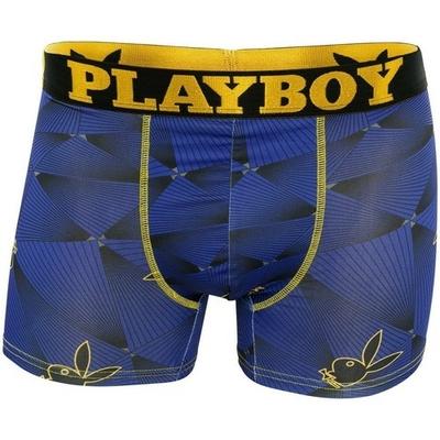 Boxer long multicolore en polyester stretch trendy imprimé laser playboy