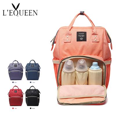 sac a dos maternité lequeen divers coloris