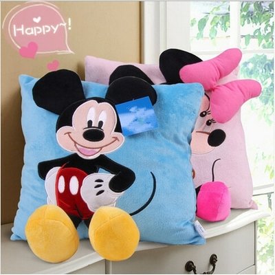 coussin mickey et minnie 30 cm happy
