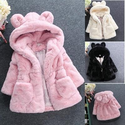 manteau fille hiver 2 au 10 ans GCWHFL divers coloris