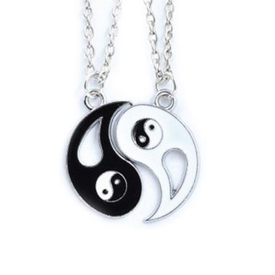 collier yin yang noir blanc zheFanku