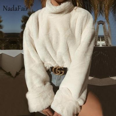 pull femme blanc S au XL nadafair