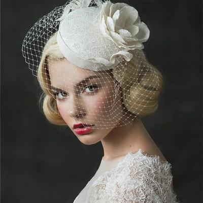 chapeau de mariage femme WH0002 beige Ouyitaomee