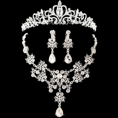 parrure de bijoux de mariage divers modèles shosixuan