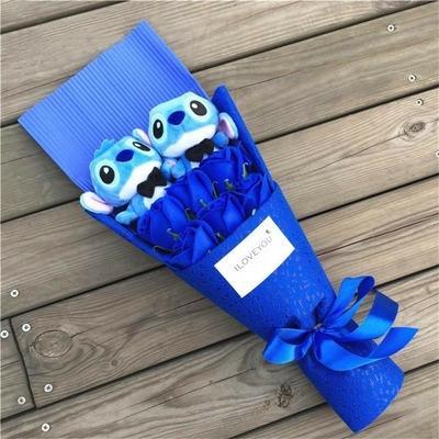 bouquet de peluche stitch rose ou bleu Feromey
