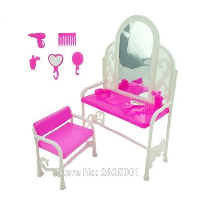 lot meuble coiffeuse et accessoires pour barbie bjdbus