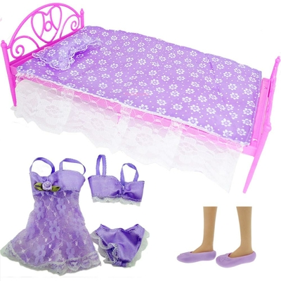 lot chambre lit et pyjama pour barbie bjdbus