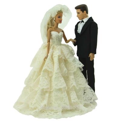 lot 2 ensembles tenue mariage pour barbie bjdbus