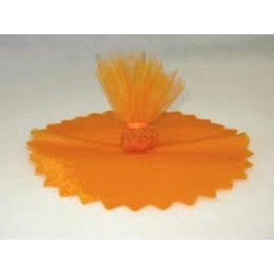 10 ronds voile brillant orange