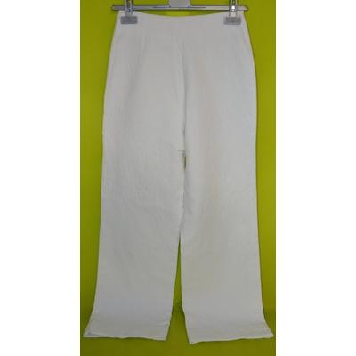 costume femme cérémonie blanc  pantalon 36 veste 42