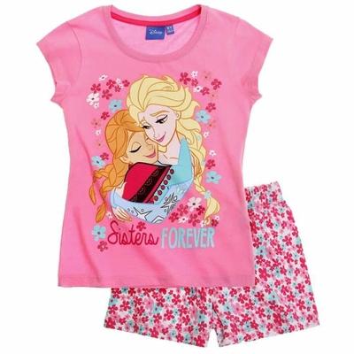 pyjama la reine des neiges frozen été 4 au 10 ans rose ou bleu
