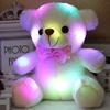 ours en peluche lumineux 20 cm blanc