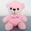 ours en peluche lumineux 20 cm rose