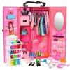 Meubles-de-maison-de-poup-e-de-mode-73-articles-ensemble-1-armoire-72-accessoires-de