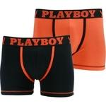 Lot de 2 boxer playboy classic cool boxer homme sexy noir orange