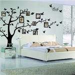 Livraison-Gratuite-grand-200-250-cm-79-99in-Noir-3D-DIY-Photo-Arbre-PVC-Stickers-Muraux