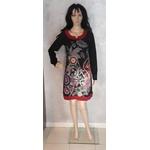 Coton du monde clothing robe tunique pensée noir 36 au 48