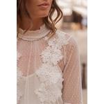 blouse blanc dentelle chic choklate marque 80826b