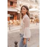 blouse blanc dentelle chic choklate marque 80826a