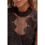 blouse noir femme dentelle choklate marque 80826c