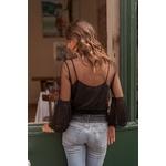 blouse noir femme dentelle choklate marque 80826b
