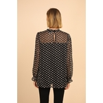 blouse voile transparent noir femme choklate marque 80883-1noirf