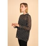 blouse voile transparent noir femme choklate marque 80883-1noire
