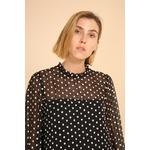 blouse voile transparent noir femme choklate marque 80883-1noird