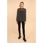 blouse voile transparent noir femme choklate marque 80883-1noirc