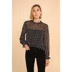 blouse voile transparent noir femme choklate marque 80883-1noira