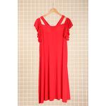 robe rouge grande taille ceremonie 46 au 60 Marque 2w paris r1441b