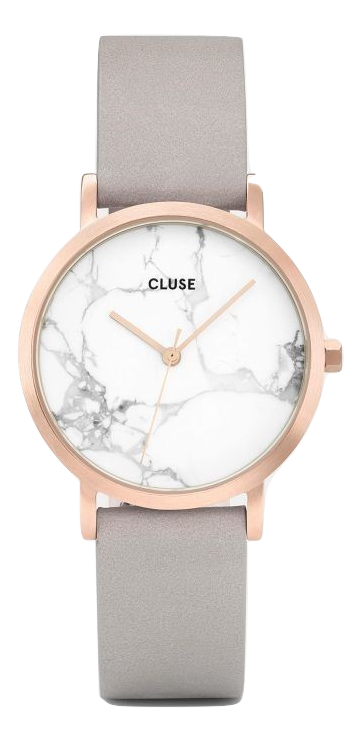 La Roche Petite Rose Gold White Marble Grey Cluse