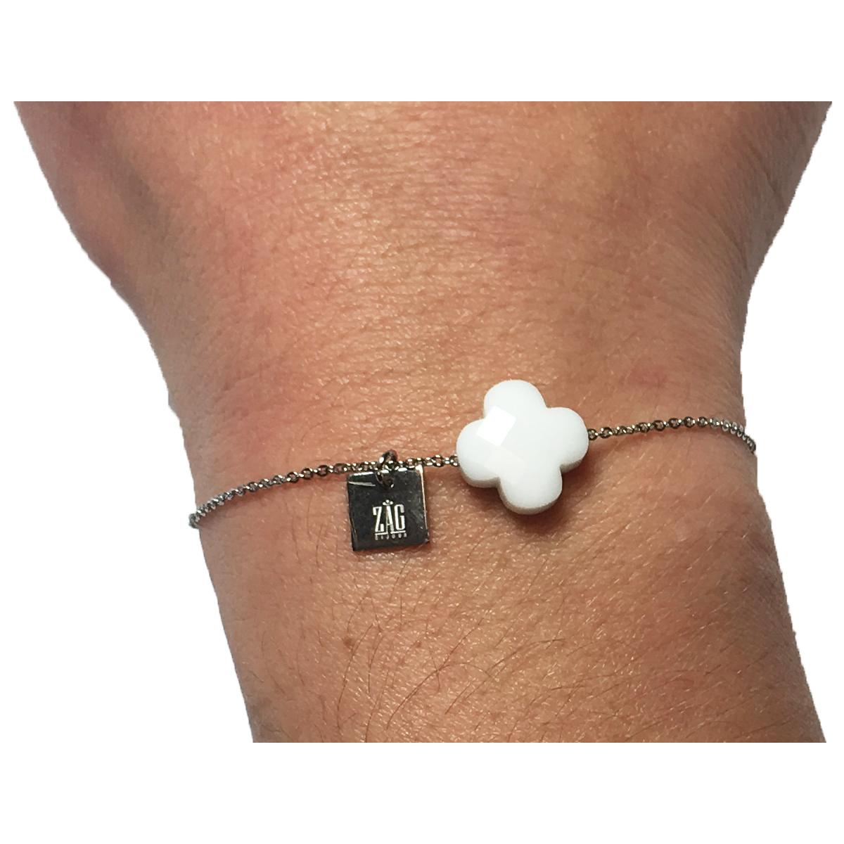 Bracelet homme pierre blanche