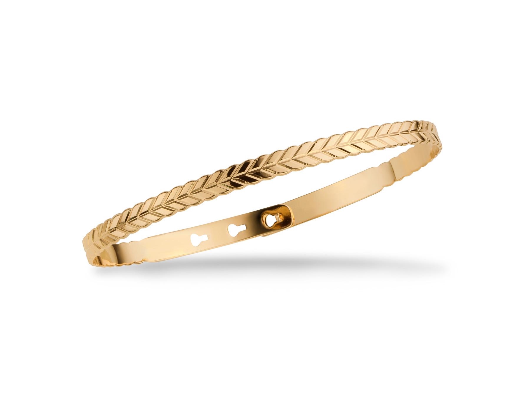 Bracelet Jonc Corde Plaqué Or