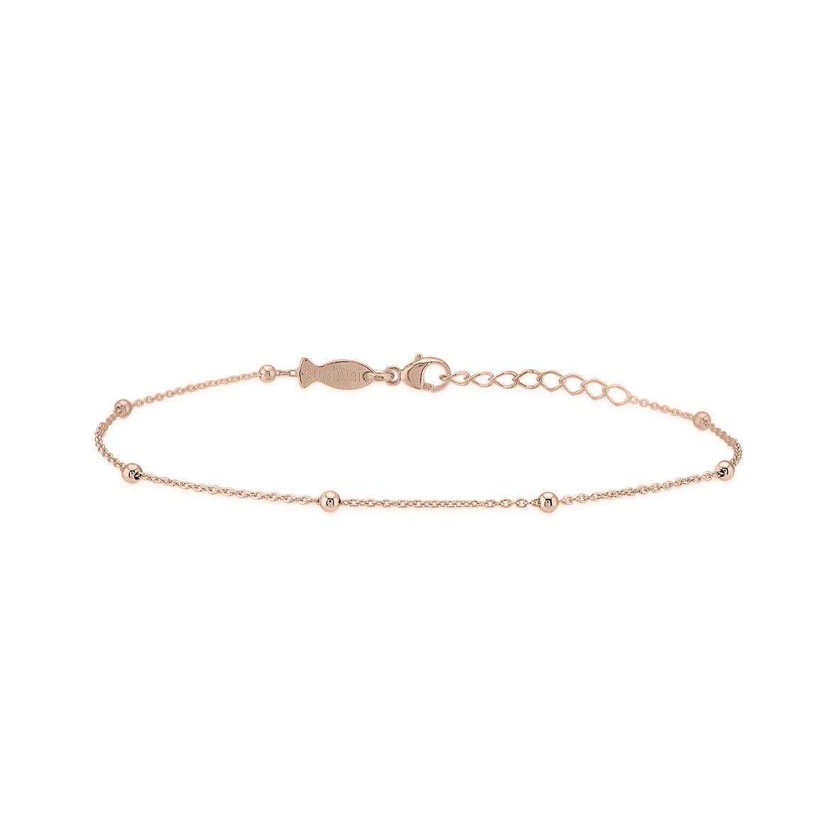 code promo 35e41 a99b6 Bracelet Chaine Boule Plaqué Or Rose