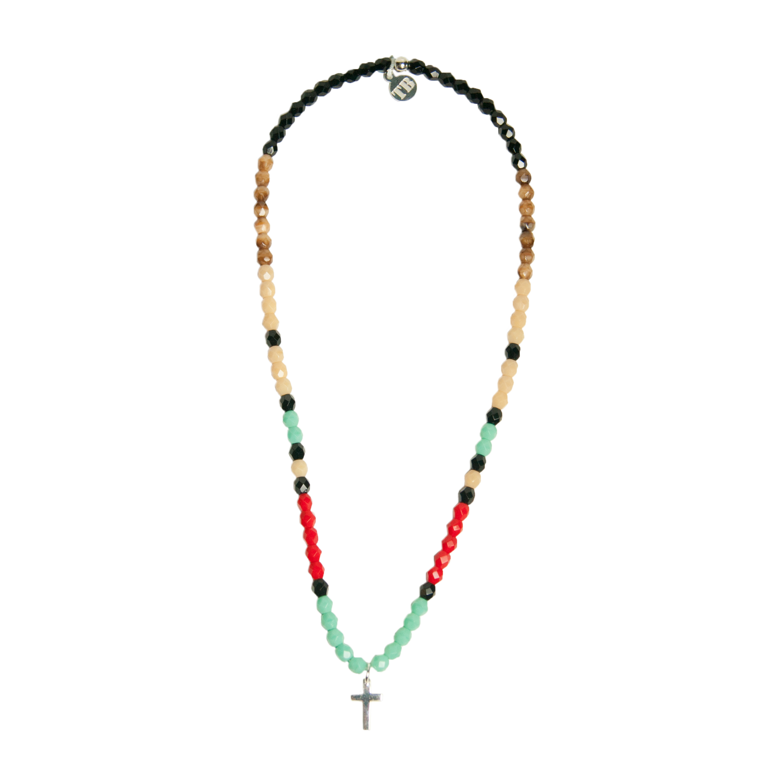 collier ras de cou multicolore