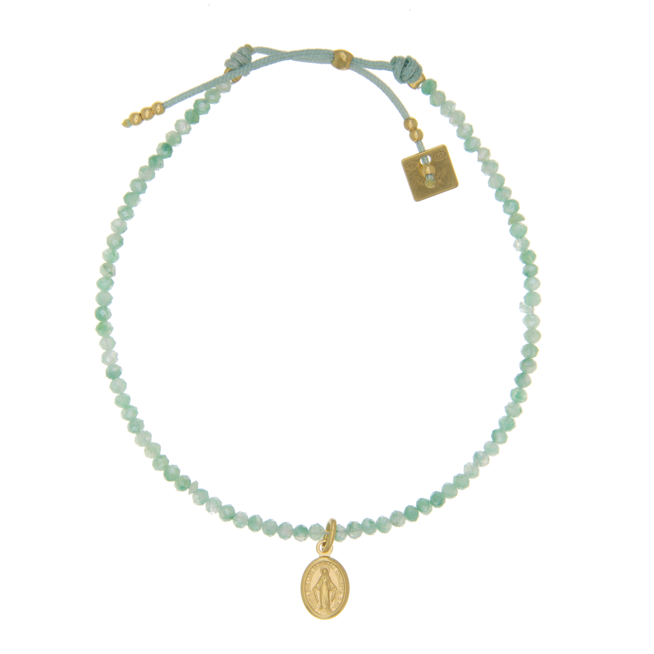 taille 40 228ff de41f Bracelet Perles Turquoises Madonne