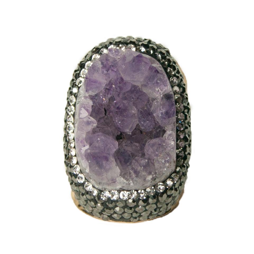 bague homme pierre violette