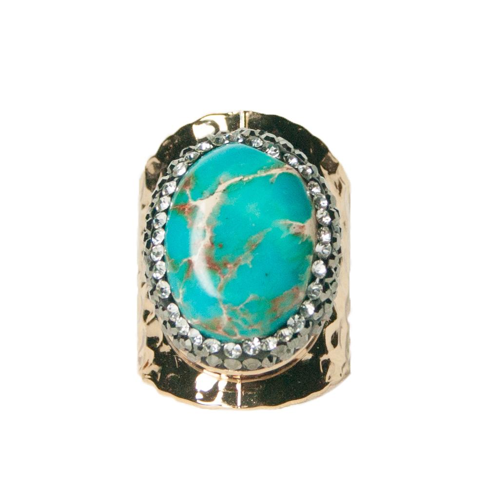 Bague femme pierre turquoise
