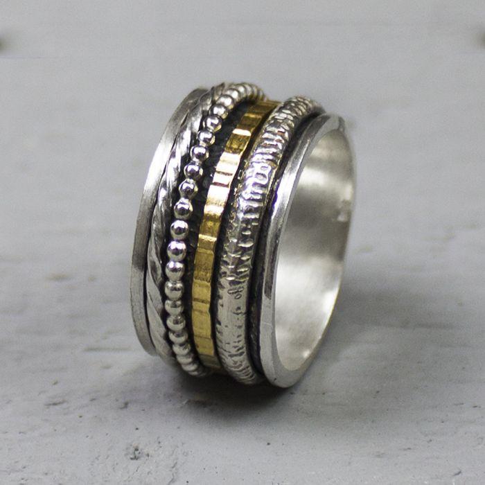 bague argent plusieurs anneaux