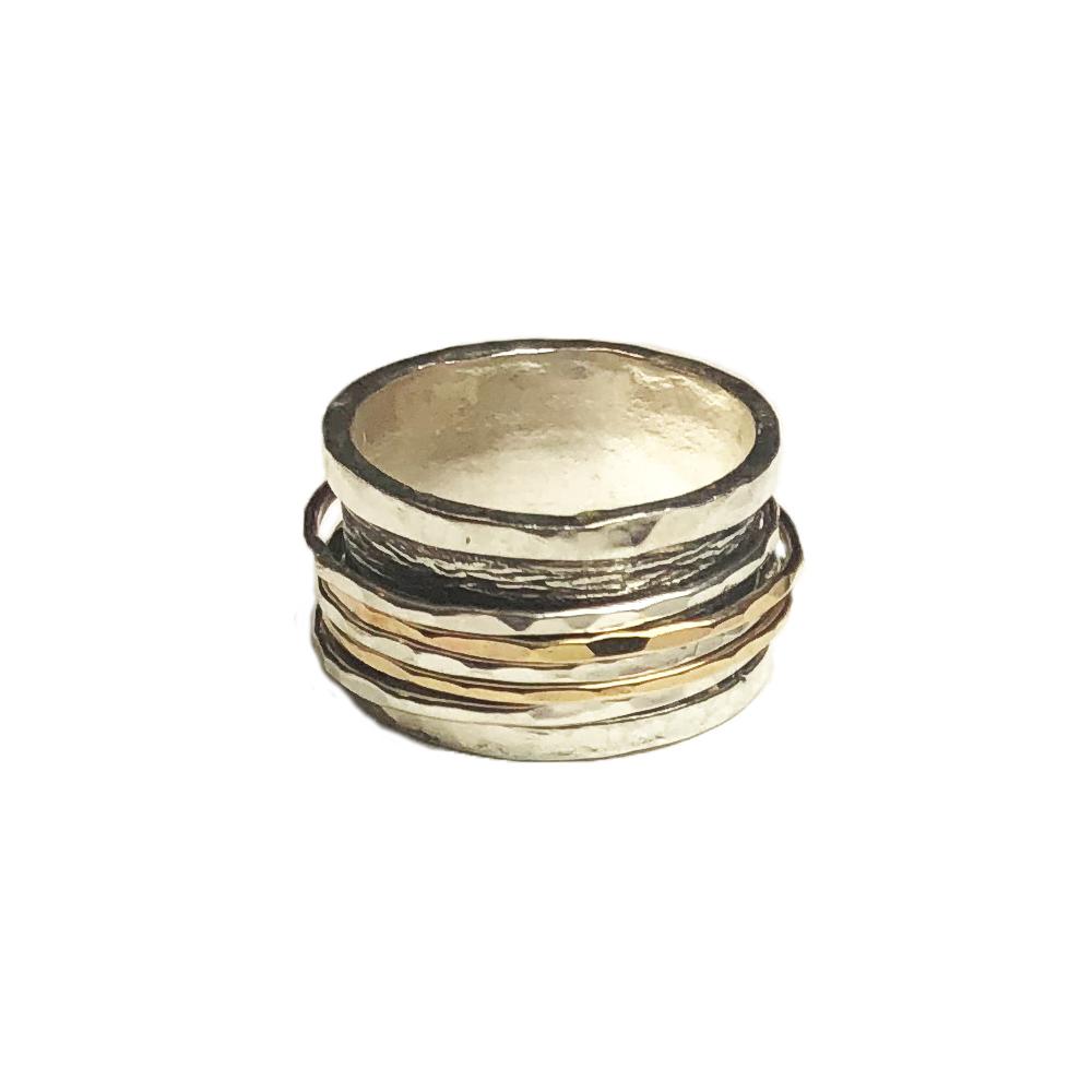 bague argent multi anneaux