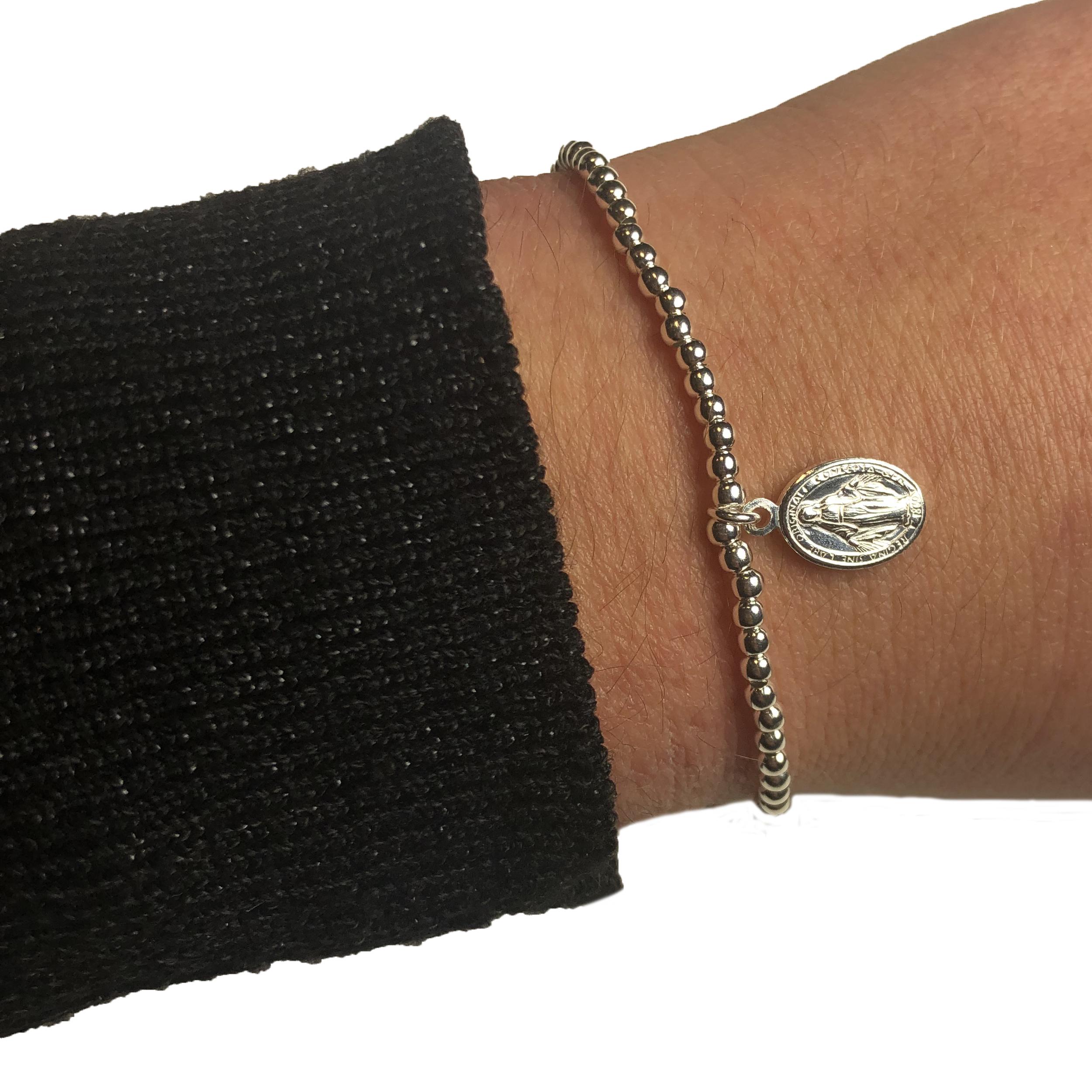 en soldes db523 8dad1 Bracelet ZAG Boule Madone Argent