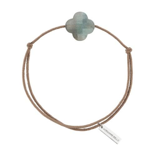 Bracelet Cordon Trèfle Labradorite